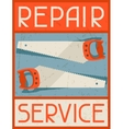 Repair service Retro poster in flat design style vector image