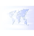business globe network on a light background vector image