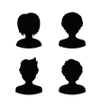Avatar profile silhouettes of young people man vector image vector image
