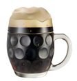 mug of dark beer on a white background vector vector image vector image