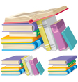 book pile vector image vector image