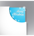 christmas corner vector image vector image