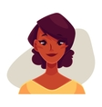 African girl face neutral facial expression vector image