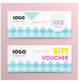 Gift voucher certificate coupon template vector image