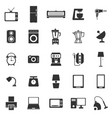 Household icons on white background vector image