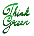 Lettering think green vector image