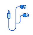 mobile earphones line icon vector image
