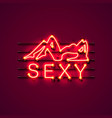 neon sexy girl signboard vector image