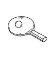 one ping pong racket vector image