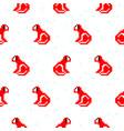 red monkey cartoon pixel art seamless pattern vector image