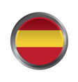 spain flag button icon image vector image