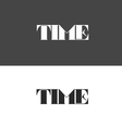 time logo made up of letters vector image