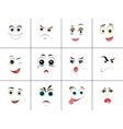 Set of Smileys with Expression of Emotions vector image