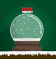 Merry Christmas empty snow globe vector image
