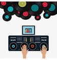 Music digital design vector image
