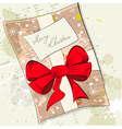 gift christmas card vector image vector image
