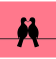 Birds couple forming heart vector image