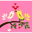 birds with love vector image