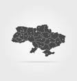 black simple ukraine map pin with shadow vector image
