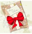 gift christmas card vector image