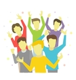 Happy people joyful group vector image