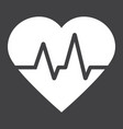 heartbeat glyph icon medicine and healthcare vector image