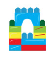isolated geometric castle toy vector image