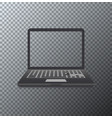 modern laptop icon on transparent vector image