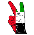 Peace Sign of the UAE flag vector image