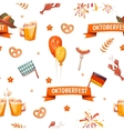 Seamless pattern with oktoberfest celebration vector image