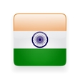 Square icon with flag of India vector image