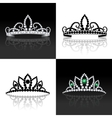 Tiara set isolated vector image