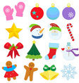 winter items vector image