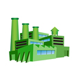 green factory vector image vector image