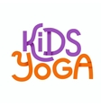 Cute colorful logo kids yoga vector image