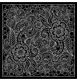 black and white bandana print vector image