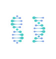 abstract dna molecule logo turquoise and vector image