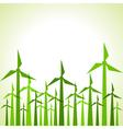 Eco windmills background vector image