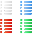 Blank colored internet web button set vector image