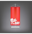 Deal of the day Vertical red flag at the pillar vector image vector image