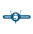 Internet radio logo vector image