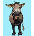 cartoon donkey neighing vector image
