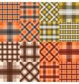 Big set of seamless tartan patterns vector image