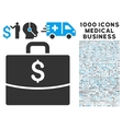 Business Case Icon with 1000 Medical Business vector image