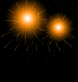 Christmas dark background with fireworks vector image