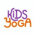 Cute colorful logo kids yoga vector image