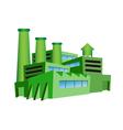 Green factory vector image