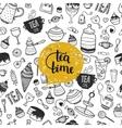 Hand drawn Tea time vector image