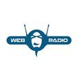 Internet radio logo vector image