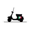 scooter with italy flag vector image